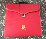 Past High Priest Apron Case Masonic Royal Arch Apron And Chain Collar Case Deluxe