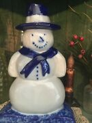 Eldreth Pottery Snowman Salt Glazed Signed and dated 1995 Mint Condition