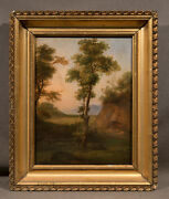 Beautiful Early 20th Century Oil Painting Landscape With Fine Detail