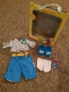 Cabbage Patch Kids Fashion Frenzy Blue/white Floral Outfit With Accessories