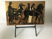 NO RESERVE Mid century modern vintage folding Fornasetti table tray hand pai