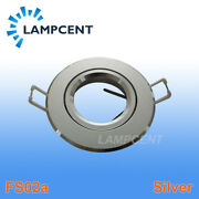 4-200/pcs Recessed Downlight Round Fitting Adjustable Light Bracket Silver Color