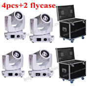 4pcs/flycase White Touch Screen 230w 7r Beam Zoom Moving Head Light
