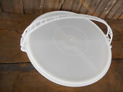 Party Susan Tupperware Relish Snack Carrier Divided Serving Tray Lid Handle