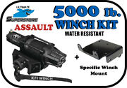 Kfi 5000 Lb Assault Winch Mount Kit And03915-and03920 Polaris Rzr 900 /1000/turbo/general