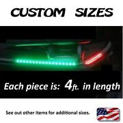 ___ Custom Sizes ___ 4ft. Each Red And Green Boat Front Safety Led Light Kit