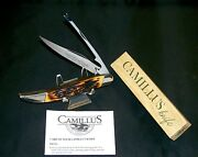 Camillus 31 Knife Sword Brand Handmade 1970and039s Indian Stag Handles W/packaging