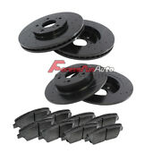 Full Kit Black Hart Drilled Slotted Brake Rotors Disc And Ceramic Pad Accordtsx