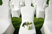 New-300pcs-universal-white-polyester-spandex-wedding-chair-covers Flat Front