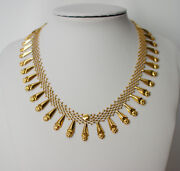 Unique Antique Handmade, Hand Woven 18-14k Solid Gold Necklace.