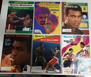Lot Of 6 1970s Sports Illustrated Magazines Mohammad Ali Cassius Clay On Cover