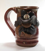 VTG Ceramic hand crafted pottery cup mug Texas Sheriff Ranger Collectible