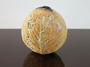 "Mid Century Studio Art  Handmade ""One of a Kind"" Ceramic Vessel Amazing Texture!"