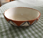 Lot of 2 Southwestern Pottery Bowls Circa 1970 Like Geo Designs