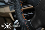 For Opel Manta A 70-75 Perforated Leather Steering Wheel Cover Orange Double St