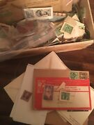 Lot Of Stamp Collection And Ww2 Collection George Washington Benjamin Franklin