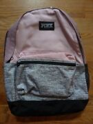 Victorias Secret Pink Newest Full Size Backpack Zip Book Laptop Nwt
