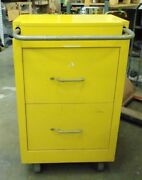 Flammable Chem Cart Cabinet Drawer Cart For Hazardous Material Storage W Wheels