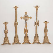 Nice Traditional Large Gothic Church Altar Candlesticks Or/and Altar Cross, 41
