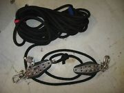 Mainsheet Control Assembly 4 Part Tackle W/cam Cleat 1/2 Line