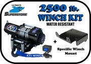 Kfi 2500lb. Winch Mount Kit And03911-and03915 American Sportworks Lm 500 650 700landmaster