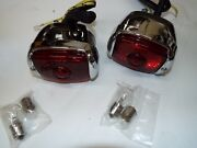 40-46 47 48 49 50 51 52 53 Chevy Truck 6 Or 12 Vt Chrome Tail Light W Cloth Wire