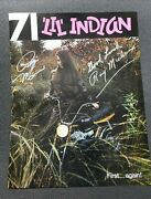 Vintage Lil Indian 1971 Mini Bike Catalog - Signed By Ray And Regis Michrina