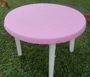 Bridge Card Table Cover - Pink Poker Speed Cloth Fits 72 Round -nlg -fs