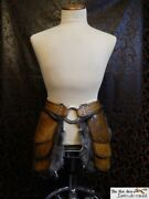 Quality Leather Tasset With Massive 3and039and039 Ring And Optional Fur. Larp Cosplay.