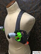 Double Shoulder Holster For Nerf Zombie Strike Revolver, Very High Quality Larp