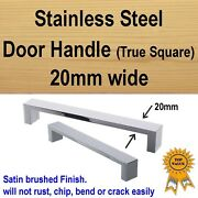 Cabinet Cupboard Kitchen Drawer Door Handles - Stainless Steel 20mm True Square