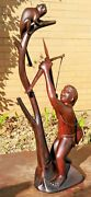 Handcarved Cocobolo Wood Sculpture By Fredrico M. Panama 1970s 80s