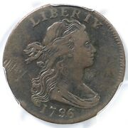 1796 S-98 R-5 Pcgs Vf Details Draped Bust Large Cent Coin 1c