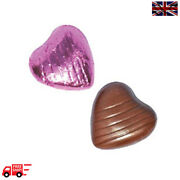 Pink High Quality Chocolate Foiled Love Hearts Wedding Favours Party Valentine