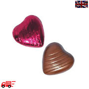 Cerise High Quality Chocolate Foiled Love Hearts Wedding Favours Party Valentine