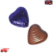 Purple High Quality Chocolate Foiled Love Hearts Wedding Favours Party Valentine