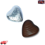 Silver High Quality Chocolate Foiled Love Hearts Wedding Favours Party Valentine
