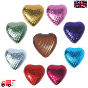 Colour Mix Quality Chocolate Foiled Love Hearts Wedding Favours Party Valentine