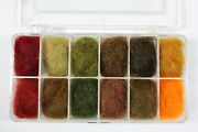 Traditional Irish Dubbing Box Number 1 Colours 1-12 Free Fly Tying Dvd