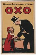 Rare Orig Advertising Postcard Ca 1910 Oxo From Joseph Simpson Signed Poster