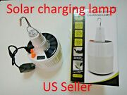 Solar Led Bulb Rechargeable Emergency Night Camping Hiking Work Lamp Us Seller