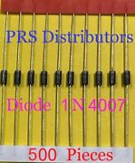 Diode 1n4007 1 Amp 1000 Volts 1n 4007 Diode N4007 Diode 500 Pieces