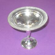 Antique Newport Usa Sterling Silver Footed Comport Candy Nut Bon Bon Dish