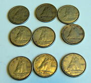 Set9 Canada Silver 10 Cent Canadian Dimes1941 43 56 60 62 63 63 63 63