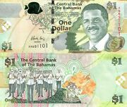 Bahamas 1 Dollar Banknote World Paper Money Unc Currency Pick P71a 2015 Bill