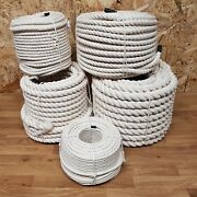 Cotton Rope Sash Cord White Twine Washing Clothes Natural 3 Strand 6 - 24mm 3-s