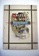 Stunning 1895 Walter A. Wood Mowing And Reaping Farm Machine Co.catalog