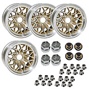 15 X 8 Cast Aluminum Gold Snowflake Wheel With Center Caps And Lug Nuts