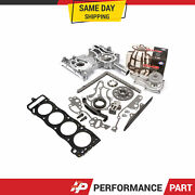 Heavy Duty Timing Chain Kit Cover Water Pump Head Gasket For 85-95 Toyota 22r