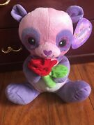 Sugarloaf Valentine Collection Plush Toy Pink And Purple Teddy Bear With Rose